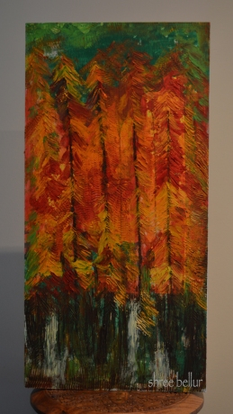 Mesmerized Oil & cold beeswax on wood 12inches x 24 inches