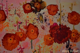 Asters Abstract Ink Art