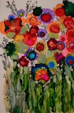 Bouquet Ink Art