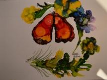 Monarch Butterfly Ink Art