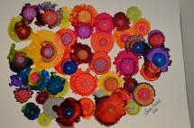 SOLD Marigold Abstract Ink Art