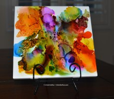 Alcohol Ink on Tile