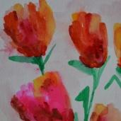 TULIP FLOWER BUNCH