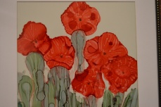 Poppies Ink Art