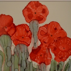Poppies Ink Art